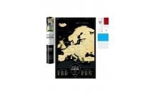 Скретч-карта Европы черная Black Europe Travel Map (на английском языке)