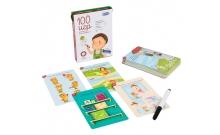 100 игр Уровень 2 - развивающие карточки для детей 3-7 лет
