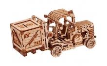 Погрузчик с копилкой - деревянный механический конструктор Wood Trick