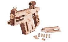 Штурмовая винтовка - механический деревянный конструктор Wood Trick