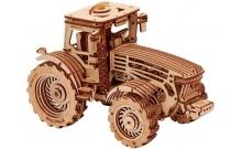 Трактор - механический 3D пазл из дерева Wood Trick