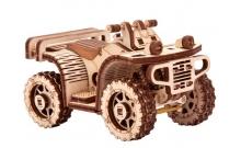 Квадроцикл ATV - механическая сборная модель Wood Trick