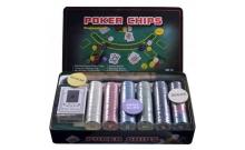 УЦЕНКА! Покерный набор на 300 фишек в металлической коробке, номинал 1-50. 4g-chips