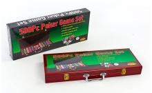 Набор покерный на 500 фишек с номиналом в деревянном кейсе. 11,5g-chips