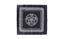 Скатерть черная Пентаграмма 48х50