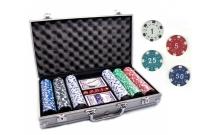 Покерный набор на 300 фишек с номиналом в кейсе. УЦЕНКА