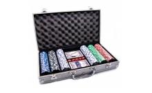 Покерный набор на 300 фишек без номинала в кейсе. УЦЕНКА