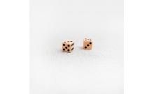 Кубики игральные из бильярдного шара, костяные зарики (9 мм, пара)