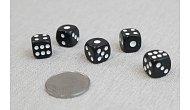 Изображение - Кости игральные кубики, 12 мм черные, Китай