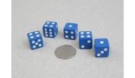 Изображение - Кости игральные кубики, 15 мм синие, Китай