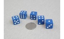 Кости игральные кубики, 15 мм синие, Китай