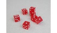 Изображение - Кости игральные кубики, 16 мм красные прозрачные, Китай