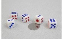 Кости игральные кубики, 15 мм, Китай