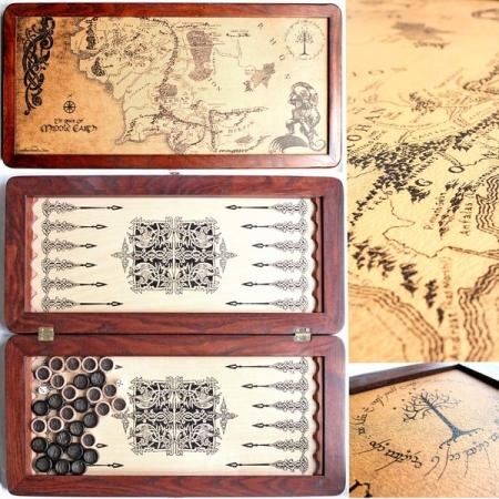 """Нарды средние деревянные """"Легенда"""" Толкиен Карта, 51 см, 31142-75"""