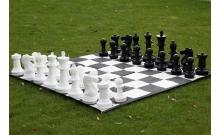 Большие садовые (уличные) шахматы СШ-16, король - 41 см, поле нейлон 168 см