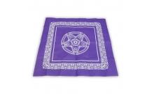 Скатерть фиолетовая Пентаграмма 50х50