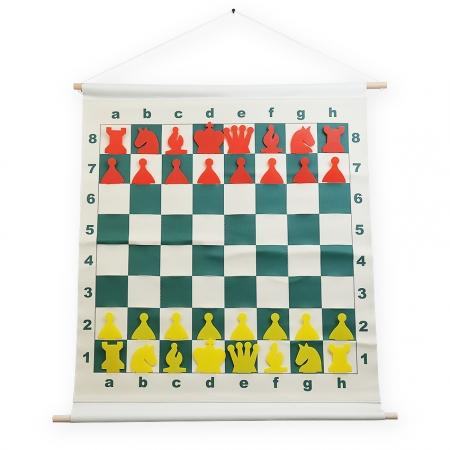 Демонстрационные шахматы 65 x 65 см с кармашками (винил, пластик)