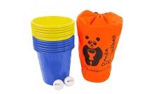 Panda Bucketball (Пляжный баскетбол с ведерками), желто-синие ведерки