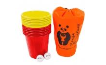 Panda Bucketball (Пляжный баскетбол с ведерками), желто-красные ведерки