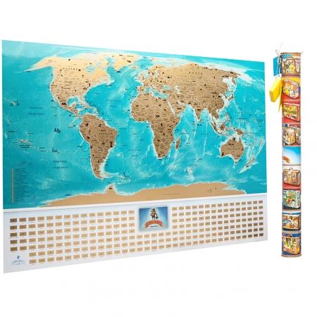 Скретч карта мира My Map Flags Edition (укр. язык)
