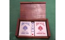 Bicycle Luxe - Подарочный набор карт в деревянной шкатулке