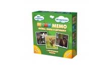 Ми-Ми-Мемо Дикие животные - развивающая мемо игра для самых маленьких. Нескучные игры (8050)
