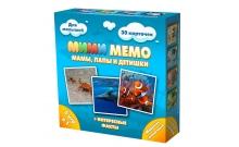 Ми-Ми-Мемо Морские животные - развивающая мемо игра для самых маленьких. Нескучные игры (8053)