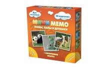 Ми-Ми-Мемо Экзотические животные - развивающая мемо игра для самых маленьких. Нескучные игры (8064)