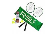 Фирменный набор для бадминтона RSL (2 ракетки + 6 воланов)