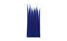 Свечи маканые синие 10 шт