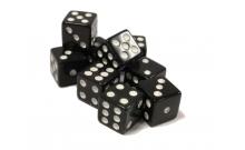 Кости игральные кубики, 15 мм черные