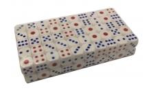 Кости игральные (100 шт) 12 мм белые с цветными точками