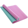 Коврик для йоги и фитнеса TPE 4 мм двухслойный FI-1515-2 (183 x 61 см) Сирень-мята