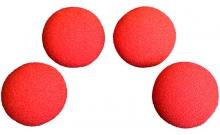 Изображение - Спонжи для фокусов (поролоновые шарики) 4 шт, Super Soft Sponge Balls 50 мм (Red). Magic by Gosh