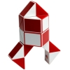 Змейка Рубика (red-white). Smart Cube. SCT402s