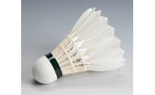 Воланы для бадминтона перьевые белые/цветные 3 шт