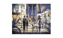 Прогулка по вечернему Парижу, серия Городской пейзаж, рисование по номерам, 40 х 50 см, Идейка, Прогулка по вечернему Парижу (KH2124)