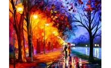 Прогулка вдвоем, Серия Пейзаж, рисование по номерам, 40 х 50 см, Идейка, Прогулка вдвоем (KH234)