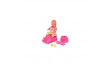 Пупс, 12 см, с машинкой и аксессуарами, New Born Baby, 503 9806-4