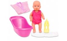 Пупс, 12 см, с ванночкой и аксессуарами, New Born Baby, 503 3218
