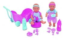 Пупсы-близнецы мини NBB с коляской и аксессуарами, 12 см, New Born Baby, 503 2367