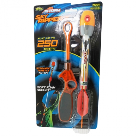 Пускатель и стрела с красным наконечником - игровой набор Sky Ripperz, Air Storm, Zing, красные стрелы, AS920-1