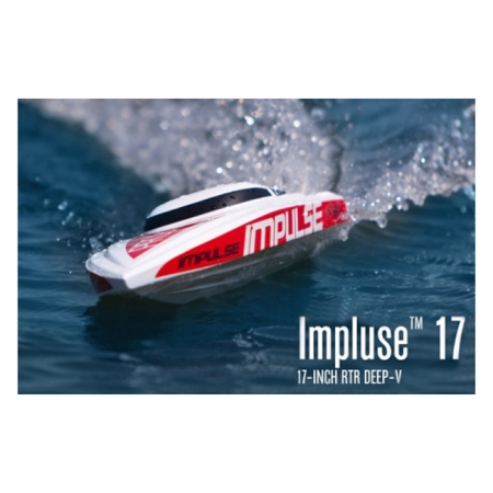 Радиоуправляемый катер Pro Boat Impulse 17 Deep-V 2.4GHz 432 мм RTR (PRB0400)