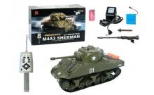 Радиоуправляемый миди-танк М4А3 Шерман (1:30), HENG LONG (3841-01)