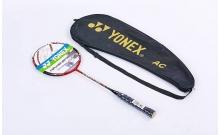 Ракетка для бадминтона профессиональная 1 штука в чехле YONEX VOLTRIC 50 BD-5670-1 (красный, дубл)