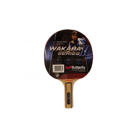 Ракетка для настольного тенниса BUTTERFLY (1шт) 16244 WAKABA II-ST TT-BAT (древесина, резина)