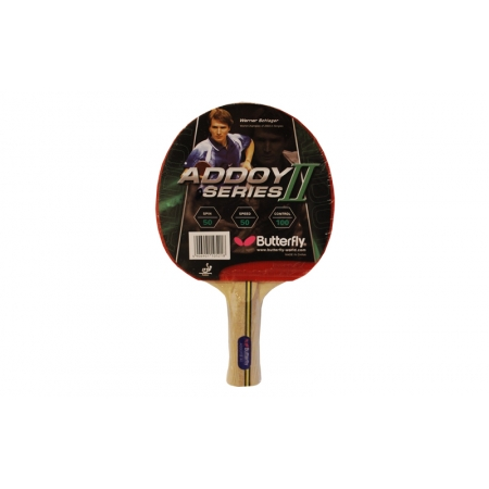 Ракетка для настольного тенниса BUTTERFLY (1шт) 16310 ADDOY II-A1 (древесина, резина)