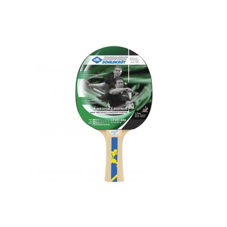 Ракетка для настольного тенниса DONIC (1шт) LEVEL 400 MT-713204 SWEDISH LEGENDS (древес, резина)