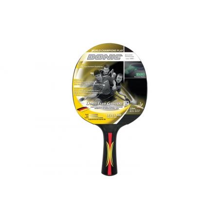 Ракетка для настольного тенниса DONIC (1шт) LEVEL 500 MT-723058 CONTROL TEAM GERMANY (древес, пласт)