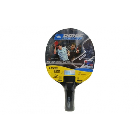 Ракетка для настольного тенниса DONIC (1шт) LEVEL 500 MT-724403 POWERGRIP (древесина, резина)